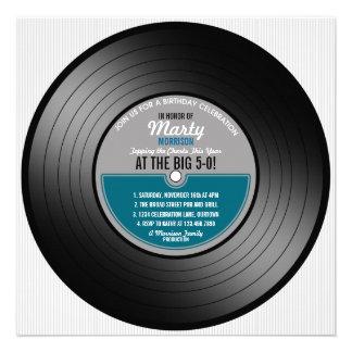 Vinylaufzeichnungs-50 Geburtstags-Party Einladung