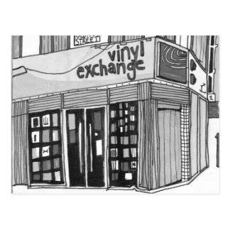 Vinylaustausch Manchester Postkarte