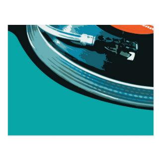 Vinylmusik-Turntable Postkarte