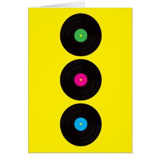 VinylPlattenen-Gruß-Karte Karte