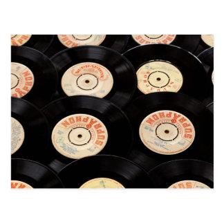 VinylPlattenen-Hintergrund Postkarte