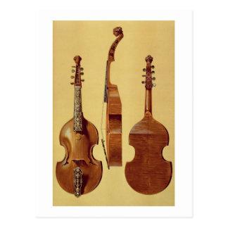 Viola d'Amore, 18. Jahrhundert, von 'musikalischem Postkarte