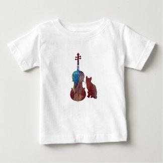Viola-Katzen-Kunst Baby T-shirt