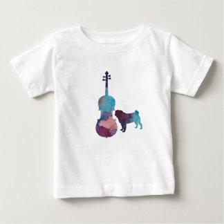 Viola-Mopskunst Baby T-shirt