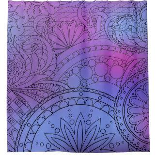 violet an~ordnen Zen pattern with sie an Duschvorhang