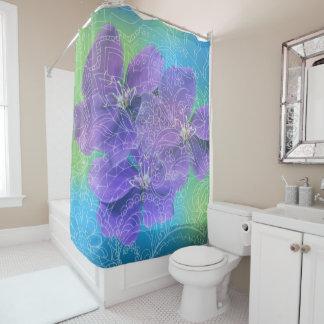 violet Zen fantasy Duschvorhang