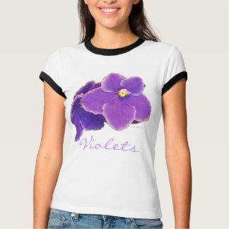 Violett-Blaue Veilchen T-Shirt