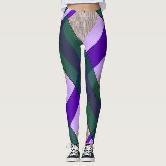 Violett-Smaragd Gamaschen Leggings