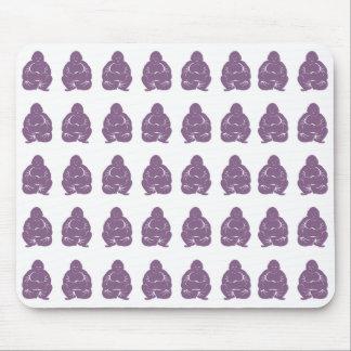 Violette asiatische Stimmungen Buddah Jungen Mousepad