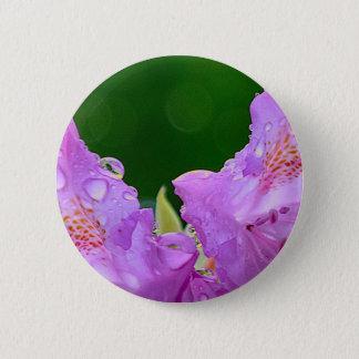 Violette Blume Runder Button 5,1 Cm