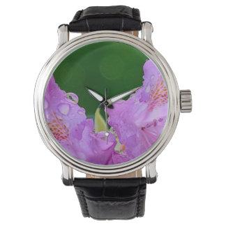 Violette Blume Uhr