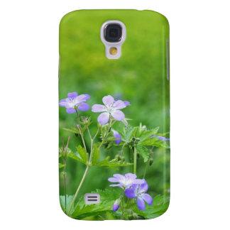 Violette Blumen auf dem Gebiet Galaxy S4 Hülle