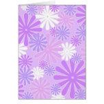 Violette Blumen Grußkarten