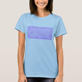 violette Blumen T-Shirt