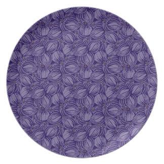 Violette Feigen-Platte Melaminteller