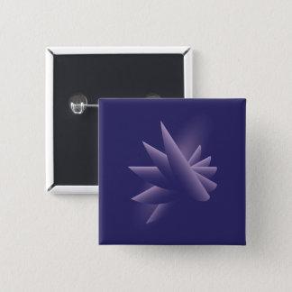 Violette Flügel Quadratischer Button 5,1 Cm