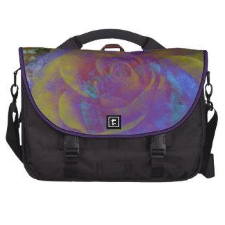 violette gelbe lila Rosenhintergrund Pendler-Tasch Laptoptaschen