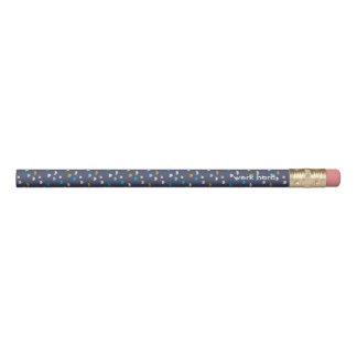 Violette gemusterte 2 Linien des Spaßes Bleistifte 0