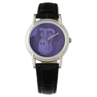 Violette Gorilla-Uhr Armbanduhr