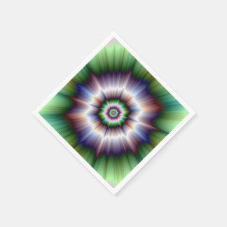 Violette grüne und blaue Supernova-Serviette Serviette