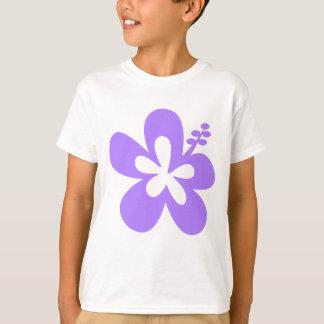 violette Hibiskusaloha Blume T-Shirt
