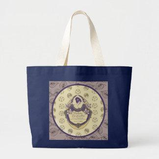 Violette Koketten-französischer Seifen-Aufkleber Jumbo Stoffbeutel