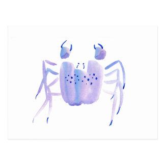 Violette Krabbe Postkarte