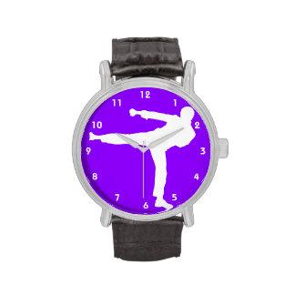 Violette lila Kriegskünste Handuhr