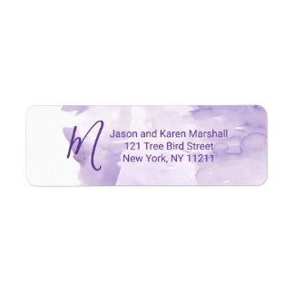 Violette lila Watercolor-Spritzen-Adresse