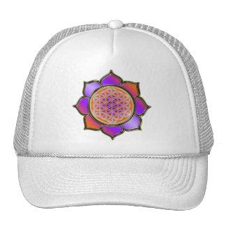 Violette Orange Blume DES Lebens Lotus Retrokultmütze