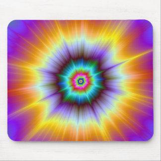 Violette Orangen-und Türkis-Explosion Mousepad