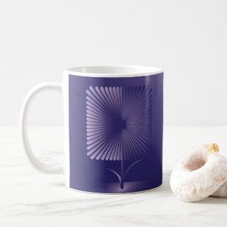 Violette quadratische Blume Kaffeetasse
