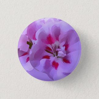 Violette rosa abstrakte Hibiskus-Blume Runder Button 3,2 Cm