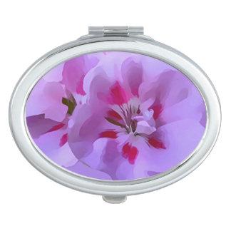 Violette rosa abstrakte Hibiskus-Blume Schminkspiegel