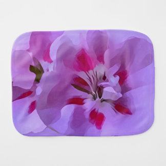 Violette rosa abstrakte Hibiskus-Blume Spucktuch