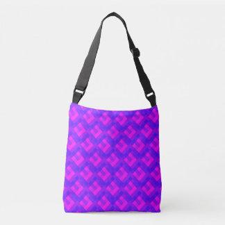 Violette rosa Pixel Tragetaschen Mit Langen Trägern