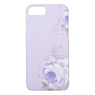 violette Rose auf alter Zeitung iPhone 8/7 Hülle