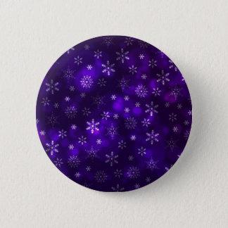 Violette Schneeflocken Runder Button 5,7 Cm
