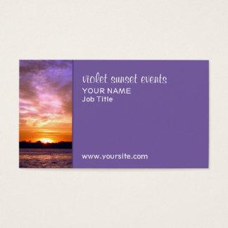 Violette Sonnenuntergang-Visitenkarte Visitenkarten