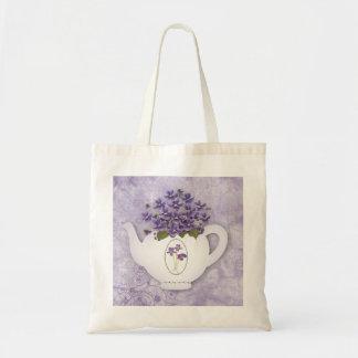 Violette Teekanne-Taschen-Tasche Tragetasche