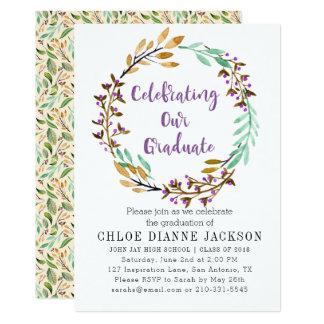 Violetter KnospeWreath und lila Karte