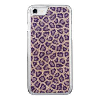 Violetter Leopard Carved iPhone 8/7 Hülle