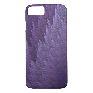Violetter lila lila Tartan-Feder-Muster-Kasten iPhone 8/7 Hülle