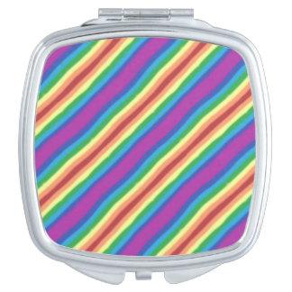 Violetter Regenbogen Taschenspiegel