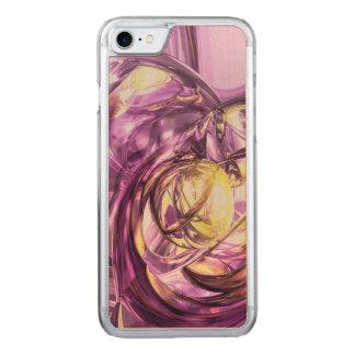 Violetter Sommer abstrakt Carved iPhone 8/7 Hülle