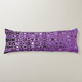 Violetter Turbulenz-Grad ein Baumwollkörper-Kissen Seitenschläferkissen
