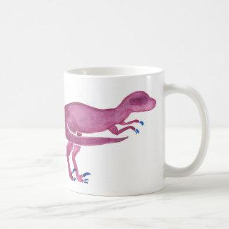 Violetter Velociraptor Kaffeetasse