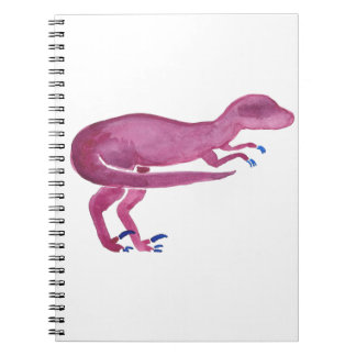 Violetter Velociraptor Notizblock