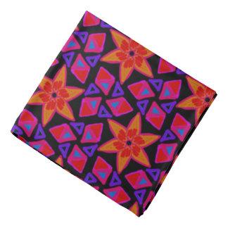 Violettes Bandana Jimette Design rotes orangees Kopftuch