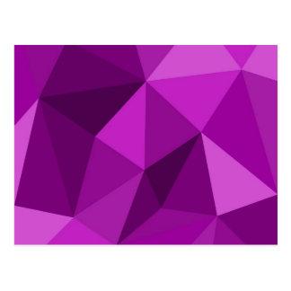 Violettes flaches einwickelndes Oberflächenmuster Postkarte